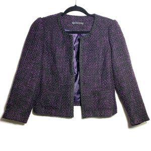 POTTER'S POT Purple Tweed/ Boucle Open Jacket